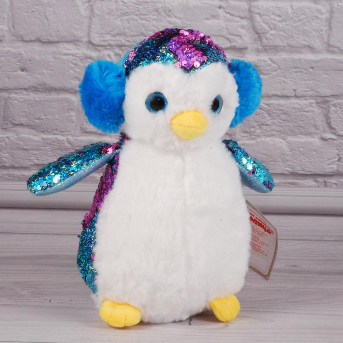 Мягкая игрушка пингвин из пайеток