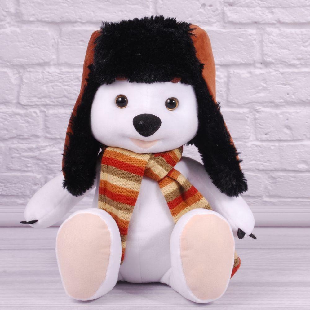 Мягкая игрушка медведь в шапке