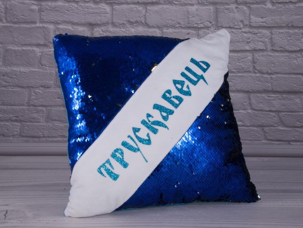 Мягкая подушка с логотипом