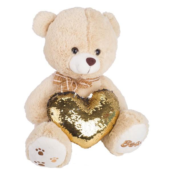 Мягкая игрушка медведь с сердцем