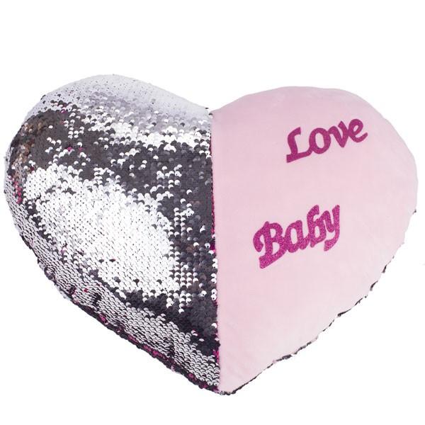 Подушка мягкая подарок в форме сердца